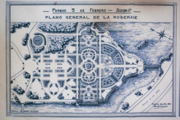 Parque 3 de Febrero Architectural Plan